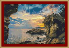 Rocky Coast II Cross Stitch Pattern by Avalon Cross Stitch on Etsy