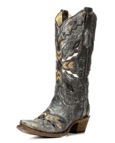 Corral | Women's Cowhide Snip Toe Boot with Overlay Embroidery | Country Outfitter