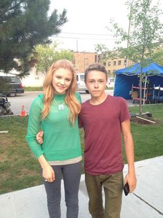 This fan was able to get a picture of him with Chloë Grace Moretz. Be jealous! I am