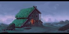 ArtStation - Viking house, Roberto Gatto