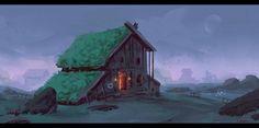 ArtStation - Viking house, Roberto Gatto