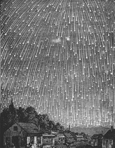 I'd love to see this - but to see so many -- that might be scary : )  - - - meteor shower