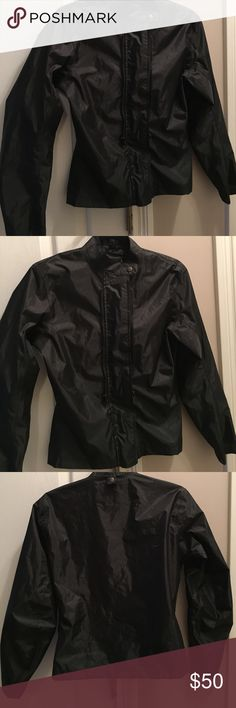 SPEED AND STRENGTH MOTORCYCLE JACKET SPEED AND STRENGTH MOTORCYCLE JACKET WOMENS SIZE MEDIUM.  100% polyester.  Solid black. Excellent condition. speed and strength Jackets & Coats