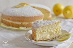 Lemon Cake (with Lemon filling recipe) Lemon Recipes, Baby Food Recipes, Sweet Recipes, Cake Recipes, Dessert Recipes, Italian Cake, Italian Desserts, Cupcakes, Cupcake Cakes