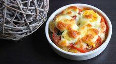 Papilles on/off: Gratin d'œufs durs à la tomate et mozzarella