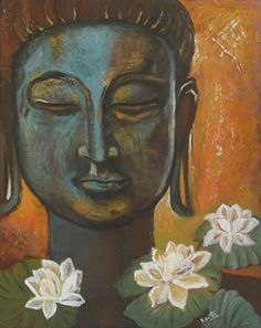 """""""This is a very important practice. Live your daily life in a way that you never lose yourself. When you are carried away with your worries, fears, cravings, anger, and desire, you run away from yourself and you lose yourself. The practice is always to go back to oneself.""""   ~  Thich Nhat Hanh  Artist:  Kavita Vardhan Title:  Mind Over Matter   <3 lis"""