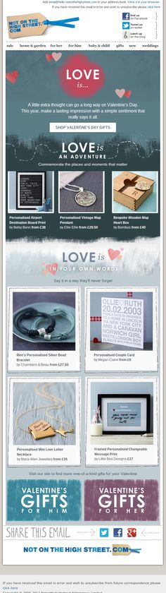 Not on the High Street's Valentine's email...