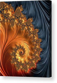 Spiral Digital Art - Fractal Spiral Orange Golden Black by Matthias Hauser Fractal Images, Fractal Art, Fractal Design, Yoga Studio Design, Art Antique, Psy Art, Fine Art Prints, Canvas Prints, Black Art