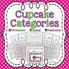 Cupcake Categories Set - flashcards, worksheet, and gameboard to address category exclusion. (or Which item does not belong)  May also be used for ...