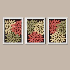 FALL Autumn Terra Cotta Olive Beige Colors Flower by trmDesign, $25.00