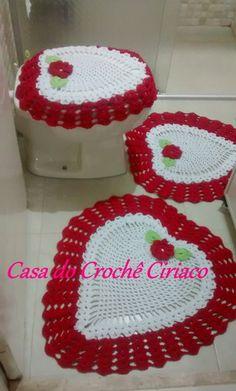 Bath Crochet Patterns Part 10 - Beautiful Crochet Patterns And Knitting Patterns - Diy Crafts - DIY & Crafts Crochet Crafts, Crochet Doilies, Diy Crafts, Bathroom Crafts, Bathroom Sets, Toilet Decoration, Crochet Storage, Drops Design, Crochet Earrings