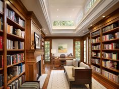 I would love a library with natural lighting, a fireplace and comfy couch.