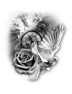 Tattoo clock- Tattoo klok Tattoo clock - Source by PhenomenaShine tattoo Lion Tattoo Sleeves, Tribal Sleeve Tattoos, Tattoo Sleeve Designs, Tattoo Designs Men, Dove Tattoo Design, Clock Tattoo Design, Tattoo Clock, Tattoo Sketches, Tattoo Drawings