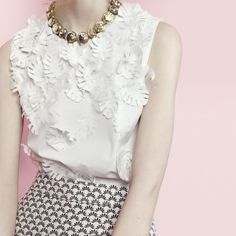 J.Crew Collection leather and silk embellished top, Collection mixed Italian…