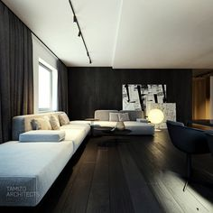 - Flat interior design on Behance Flat Interior Design, Best Interior, Modern House Design, Modern Interior, Interior Architecture, Minimal Architecture, Tamizo Architects, White Bedroom Design, Adobe Photoshop