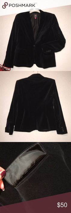 Vince Camuto blazer Black velvet blazer  Size:12  In perfect conditions Vince Camuto Jackets & Coats Blazers