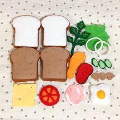 フェルト おままごと サンドイッチセット