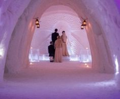 Wedding In The Snow Chapel, Levi Lapland Finland