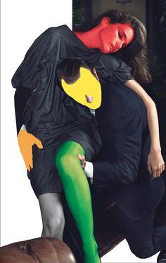 John Baldessari - John Baldessari, Yves Saint Laurent; W Magazine