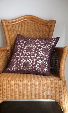 Crochet Cushion Cover: free pattern