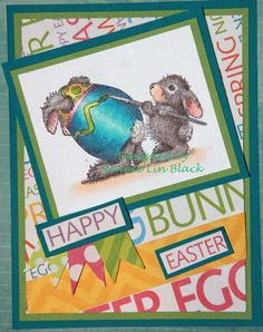 Stampendous, Easter, Bunny, Copic, love these little Hoppers from house Mouse Designs