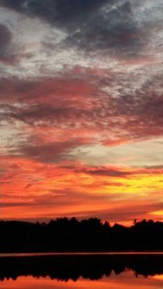 Sunrise at sunset lake ashburnham. .pedro