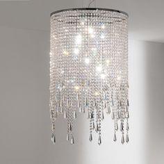 Suspension lamp in steel and glass mod. Venezia, Cattelan. // Lámpara de suspensión de acero y vidrio mod. Venezia, Cattelan. // Lampada a sospensione in acciaio e cristallo mod. Venezia, Cattelan. #pendantlamp #lamparadesuspension #lampadasospensione #steel #acero #acciaio #crystal #cristal #cristallo #cattelan