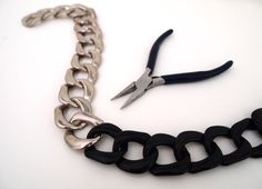Two Tone Chunky Chain DIY Necklace