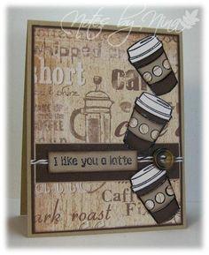 Latte Love stamps by Fiskars