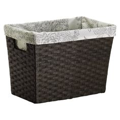 Threshold™ Set of 2 Paper Rope Magazine Basket - Dark Brown