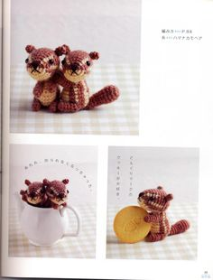 Amigurumi squirrel and others