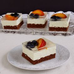 Cheesecake, Food And Drink, Baking, Hungarian Recipes, Cheesecakes, Bakken, Backen, Cherry Cheesecake Shooters, Sweets