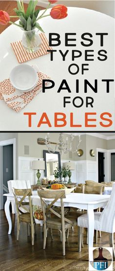 How To Paint a Table Correctly - Painted Furniture Ideas