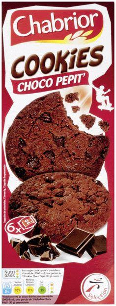 Craquez pour nos bons cookies Chabrior. #Intermarché #Céréales #Biscuits #Cookies #Goûter