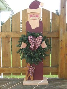 Digital Pattern Packet , Primitive Santa , Painting Wood 46 Inches