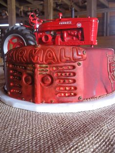 Farmall Tractor Cake by TheTopping, via Flickr
