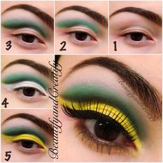 Pictorial for colorful cut crease look