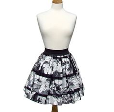 ON SALE Comic Strip Retro Inspired Skirt by VintageGaleria on Etsy