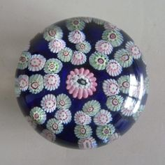 Antique Clichy Patterned Millefiori Glass Paperweight on Opaque Ground 19th C | eBay