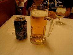 A Barcelona version of a medium beer.