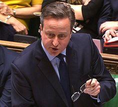 Britannian pääministeri David Cameron.
