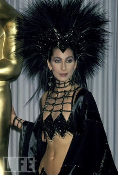 Cher.......Oscar photo..1986 My favorite Cher costume of all time, and it was a hard choice--she's the Queen of fashion!