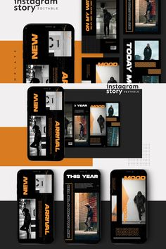 Introducing!, Instagram Story Template  warning : Editting skill needed, Before you edit the template you must have PhotoShop. This creative and modern Template is 100% available in PSD editable.  Features      Easy to edit templates with fully customizable text, & images     Create beautiful mockups for Desktop, Tablet & Mobile     Pixel-perfect Image Guides - updated for 2019     Meticulously organized & labeled layers     High-Resolution PSD files     Size 1080 x 1920  Instagram Story Template, Instagram Story Ideas, Instagram Templates, Social Media Template, Social Media Design, Estilo Street, Marca Personal, Instagram Design, Perfect Image