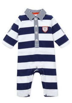 Little Me  Smooth Sailing Striped Coverall