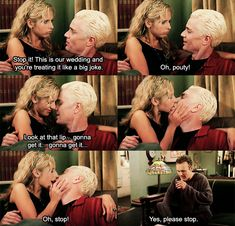 BtVS Something Blue. Buffy and Spike Big Joke, Spike Buffy, Joss Whedon, Film Serie, Superwholock, Best Shows Ever, Favorite Tv Shows, Movies And Tv Shows, In This World