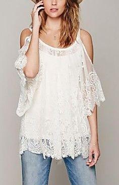 Lace Strapless Blouse == @scrapwedo
