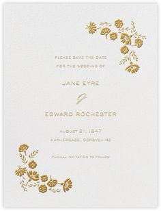Marianne I (Save the Date) - Medium Gold - Paperless Post