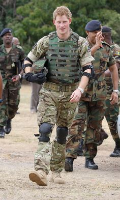 Prince Harry in military uniform