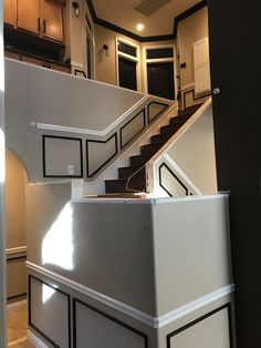 Tear out Banister Remodel, Banisters, Kitchen Island, Home Decor, Island Kitchen, Decoration Home, Room Decor, Staircase Railings, Home Interior Design