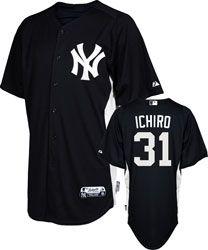 Ichiro Suzuki Jersey: Adult Majestic Navy/White Authentic Cool Base™ New York Yankees Batting Practice Jersey $99.99 http://www.fansedge.com/Ichiro-Suzuki-Jersey-Adult-Majestic-NavyWhite-Authentic-Cool-Base-New-York-Yankees-Batting-Practice-Jersey-_-1729120596_PD.html?social=pinterest_pfid66-60175